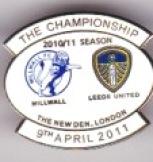 v Millwall 2010/11