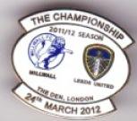 v Millwall 2011/12 away