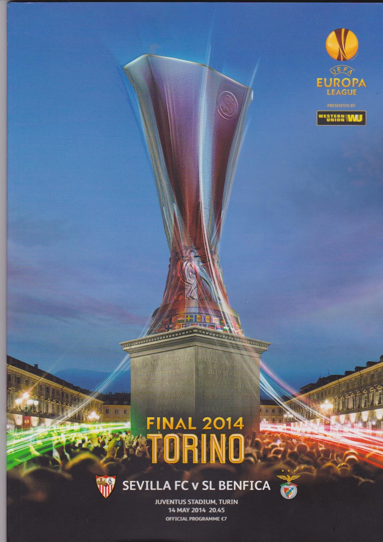 2013 Europa Final Sevilla v Benfica