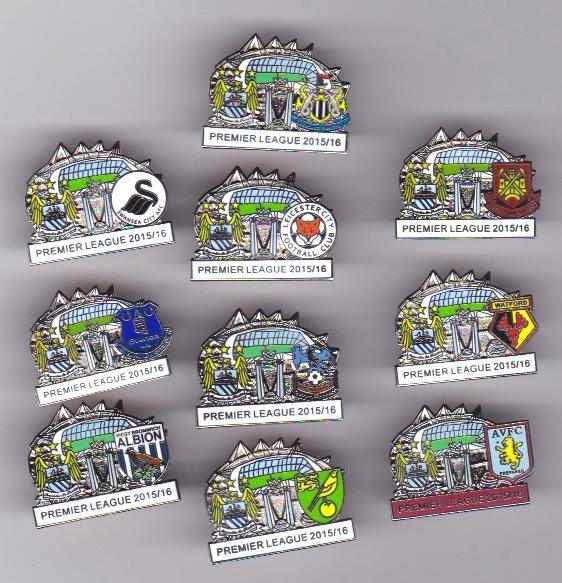 10 x 15/16 Man City Match Badges