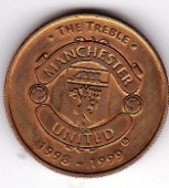 1999 Treble Winners large coin
