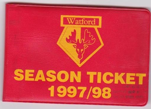 Season Ticket 97/8