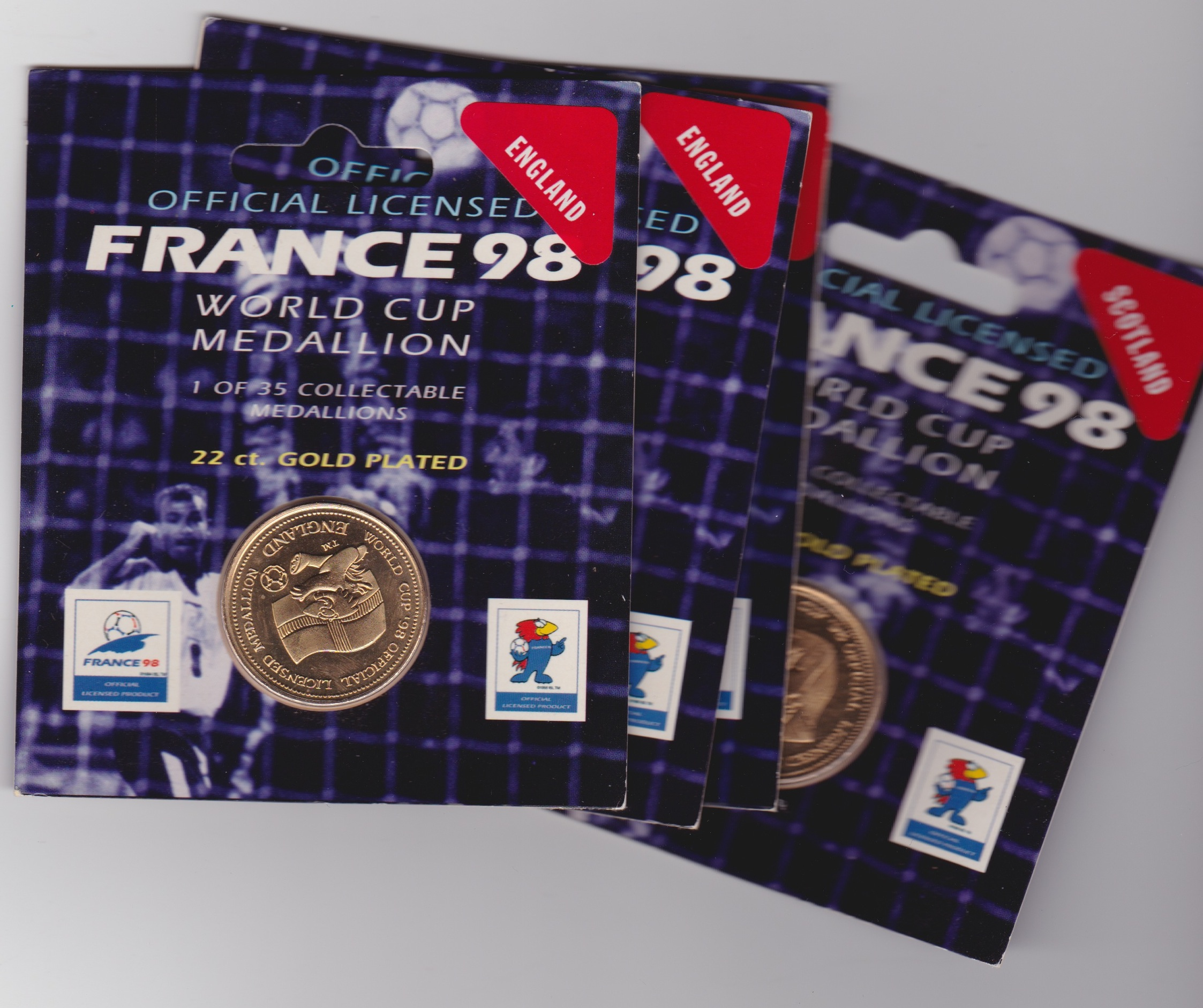 World Cup 1998 Official Coin (wrapped)