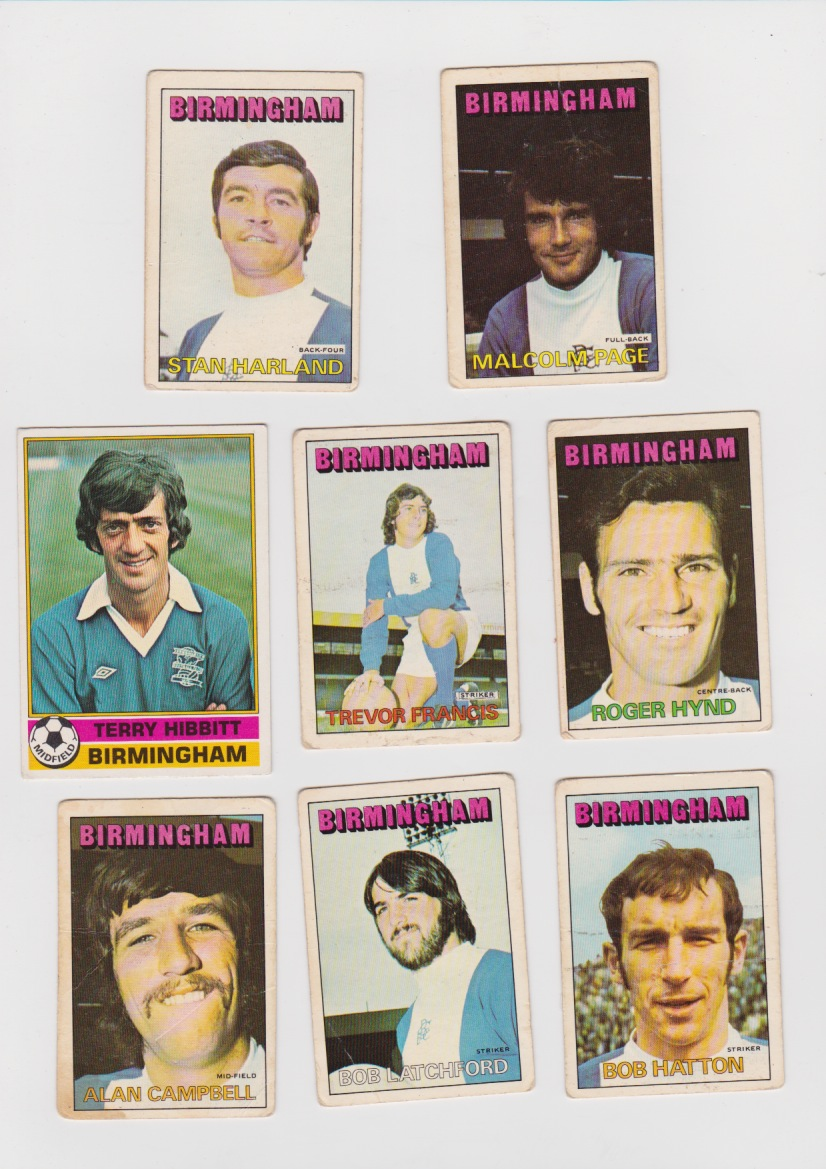 8 Topps cards