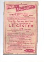 Railway Handbill 1939