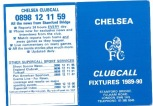 Fixture Card 89/90