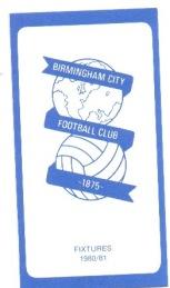 Fixture Card 80/81