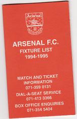 Fixture Card 94/5