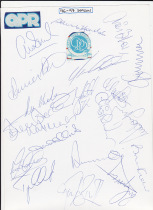 96/7 Squad autographs, 21 in total.
