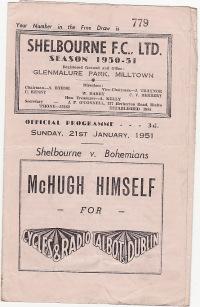 Shelbourne v Bohemians (Eire) - 1950/1951