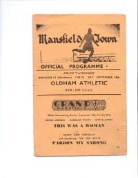 Mansfield Town v Oldham Athletic - 1948/1949
