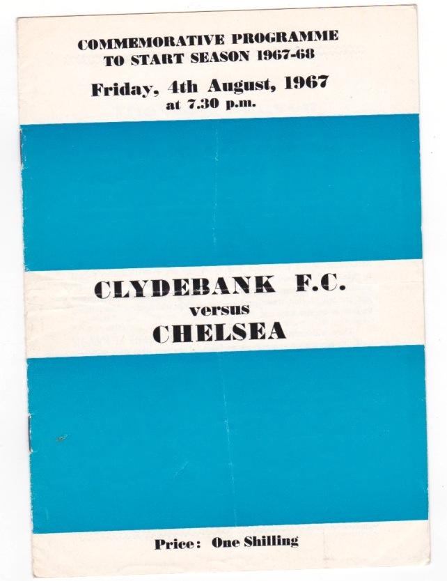 Clydebank v Chelsea - 1967/1968
