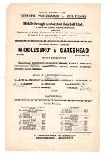 Middlesbrough v Gateshead - 1944/1945