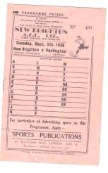 New Brighton v Darlington - 1950/1951