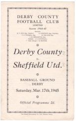 Derby County v Sheffield United - 1944/1945