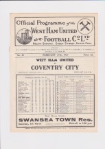 West Ham v Coventry City - 1936/1937