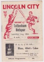 Lincoln City v Tottenham - 1948/1949