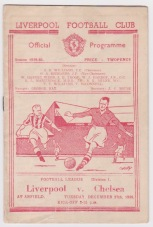 Liverpool v Chelsea - 1949/1950