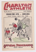 Charlton v Chelsea - 1938/1939