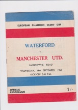 Waterford v Manchester United - 1968/1969