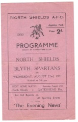 North Shields v Blyth Spartans - 1951/1952