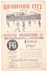 Bradford City v Halifax Town - 1947/1948