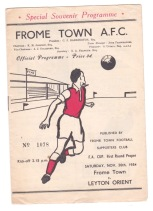 Frome Town v Leyton Orient - 1954/1955