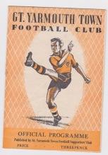 Yarmouth v Crystal Palace - 1953/1954