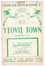 Yeovil Town v Aldershot - 1955/1956
