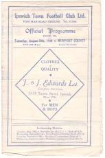 Ipswich Town v Newport County - 1948/1949