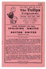 Spalding v Boston United - 1948/1949